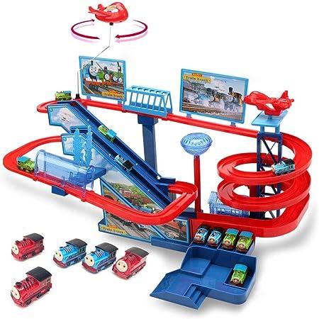 Juguetes de aprendizaje y actividades Tren Tren Coche de juguete de múltiples capas Escalera Escalera Carril de carril Coche rápido Juguete eléctrico Juguetes educativos para niños: Amazon.es: Hogar
