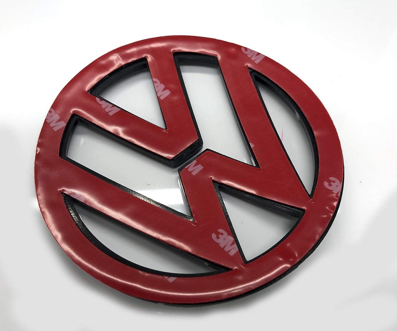 Schwarz gl/änzend 110mm Vorderes Grill Bonnet Abzeichen Emblem F/ür Scirocco 2009-2014