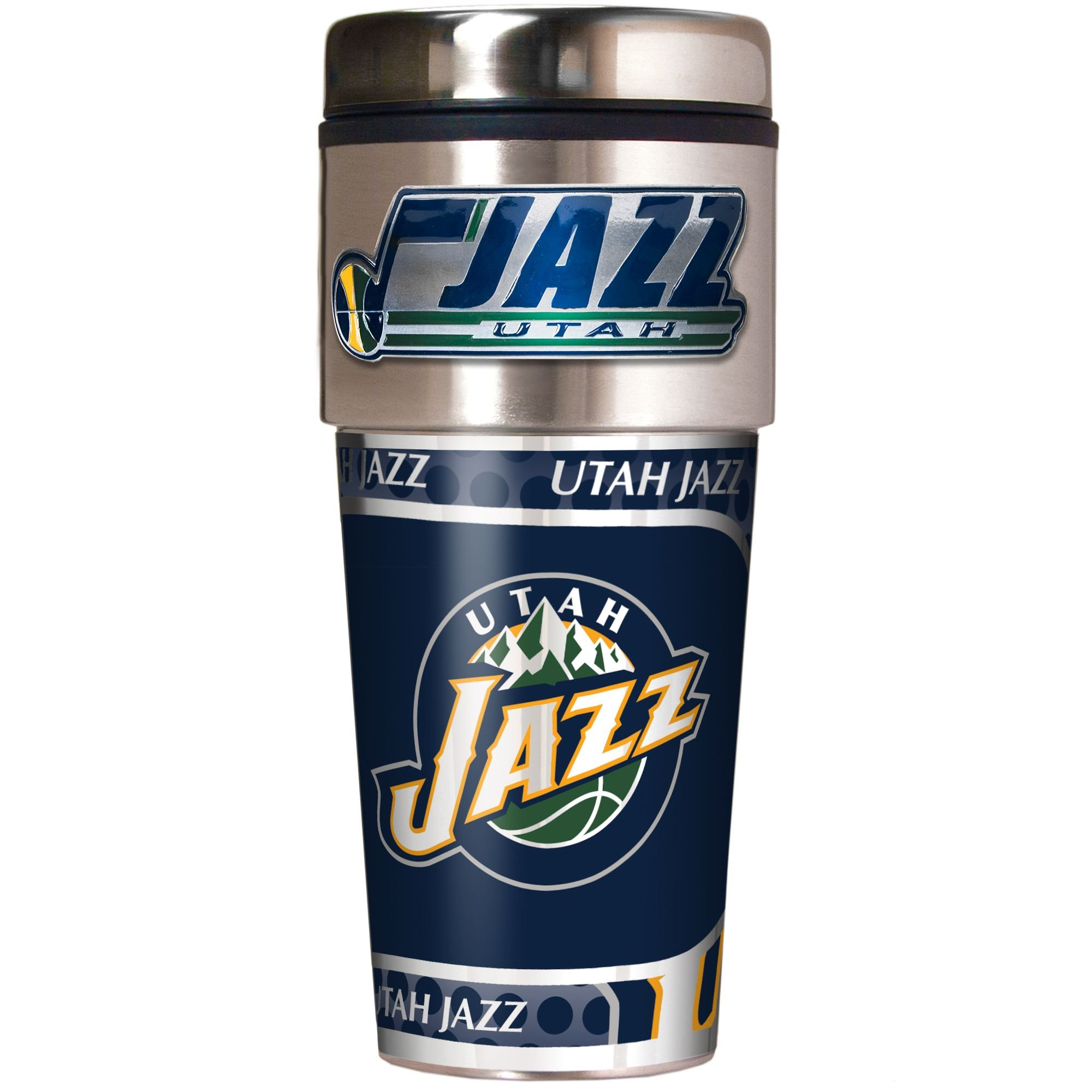 NBA Utah Jazz Metallic Travel Tumbler,  16-Ounce by Great American Products