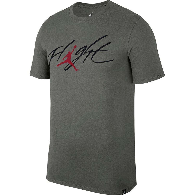 Jordan T-Shirt – Sportswear Brand 4 Grau/Rot Größe: L (Large)