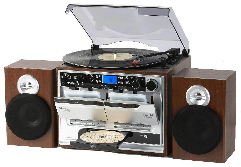 とうしょう Wカセット ダビングレコードプレーヤー 木目調ブラウン TCD-389WB   B07BFR21RR