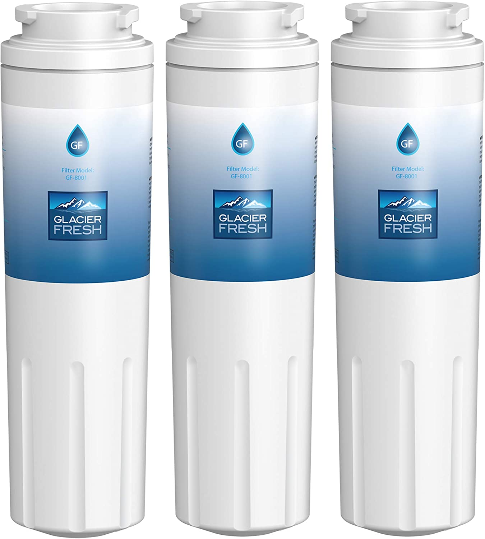 GLACIER FRESH UKF8001 Water Filter Cartridges NSF 42 Certified, Compatible with Maytag UKF8001, KitchenAid 4396395, UKF8001AXX, UKF8001P, Filter 4, EDR4RXD1, 469006, Puriclean II, 3 Pack