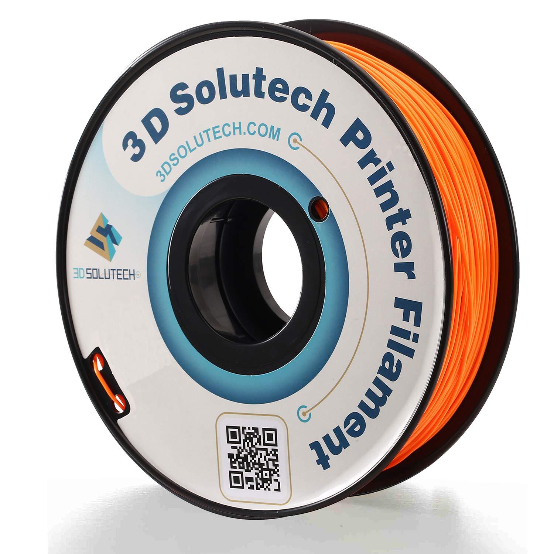 3D Solutech Real Orange 3D Printer PLA Filament 1.75MM Filament, Dimensional Accuracy +/- 0.03 mm, 2.2 LBS (1.0KG) - PLAOR