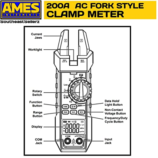 Ames 200 A Fork Style Clamp Meter Amazon