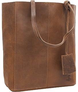 1eb744b4fbed0 Gusti Handtasche Leder Damen Herren groß Cassidy Umhängetasche Shopper 13L  Tasche Braun