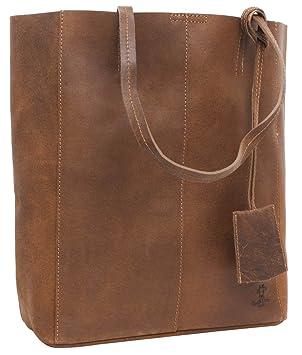 "f4023107086726 Handtasche Leder Gusti studio ""Cassidy"" Umhängetasche Shopper  Ledertasche Damen Braun"