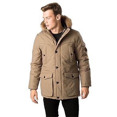 Threadbare DMT069 Derwent Mens Parka Jacket - Stone - Size XX ...