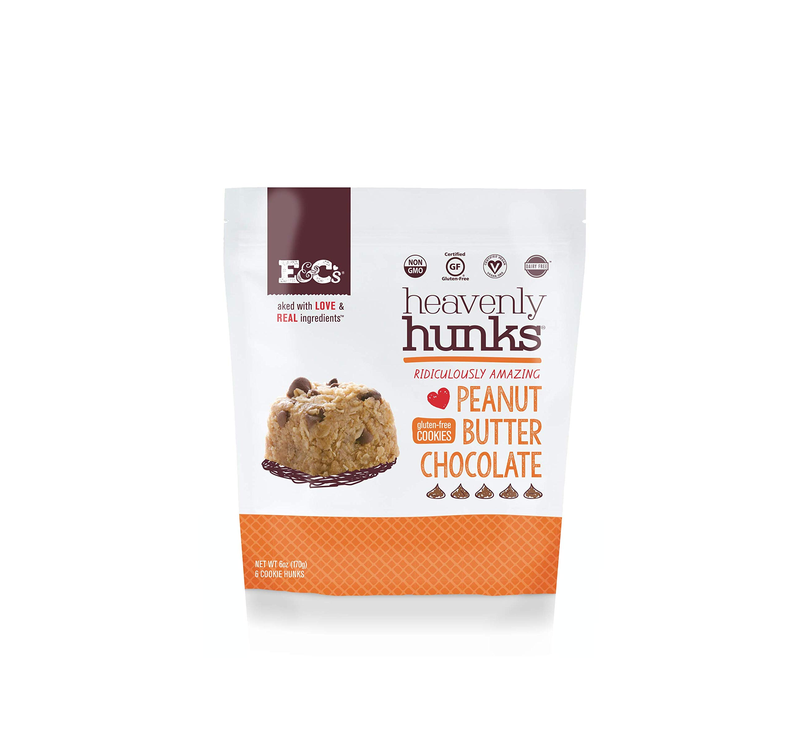Heavenly Hunks (Peanut Butter Chocolate, 1 case (6/6oz bags)) by E&C's Snacks
