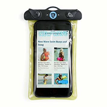 buy online 743f5 8a8c2 New Wave Waterproof Phone Case & Dry Bag Pouch from Swim Buoy