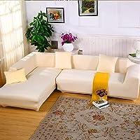 JIAN YA NA Canapé Extensible Covers Polyester Spandex Housse Polyester Tissu Stretch Slipcovers + 2pcs Oreiller Couvre pour Canapé en L Canapé
