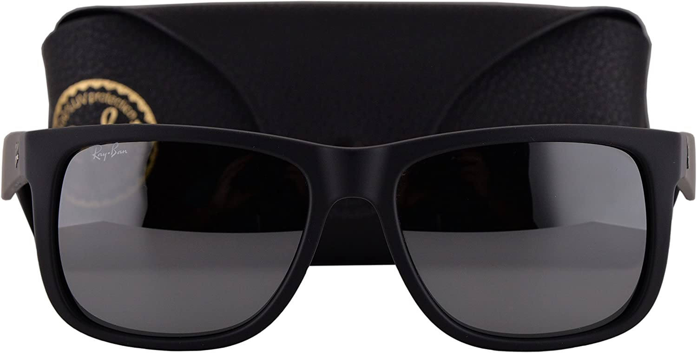 Ray-Ban Gafas de Sol RB4165 Justin w/Gris Espejo Lente de Plata 6226G RB 4165 Hombre Caucho Negro Grande: Amazon.es: Hogar