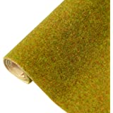 Yamix Model Grass Mat Artificial Train Grass Mat Fake Turf Lawn Paper for DIY Train Railroad Scenery Landscape…