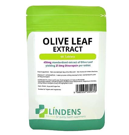 Lindens Extracto de hoja de olivo en comprimidos | 60 Paquete | 450 mg de extracto