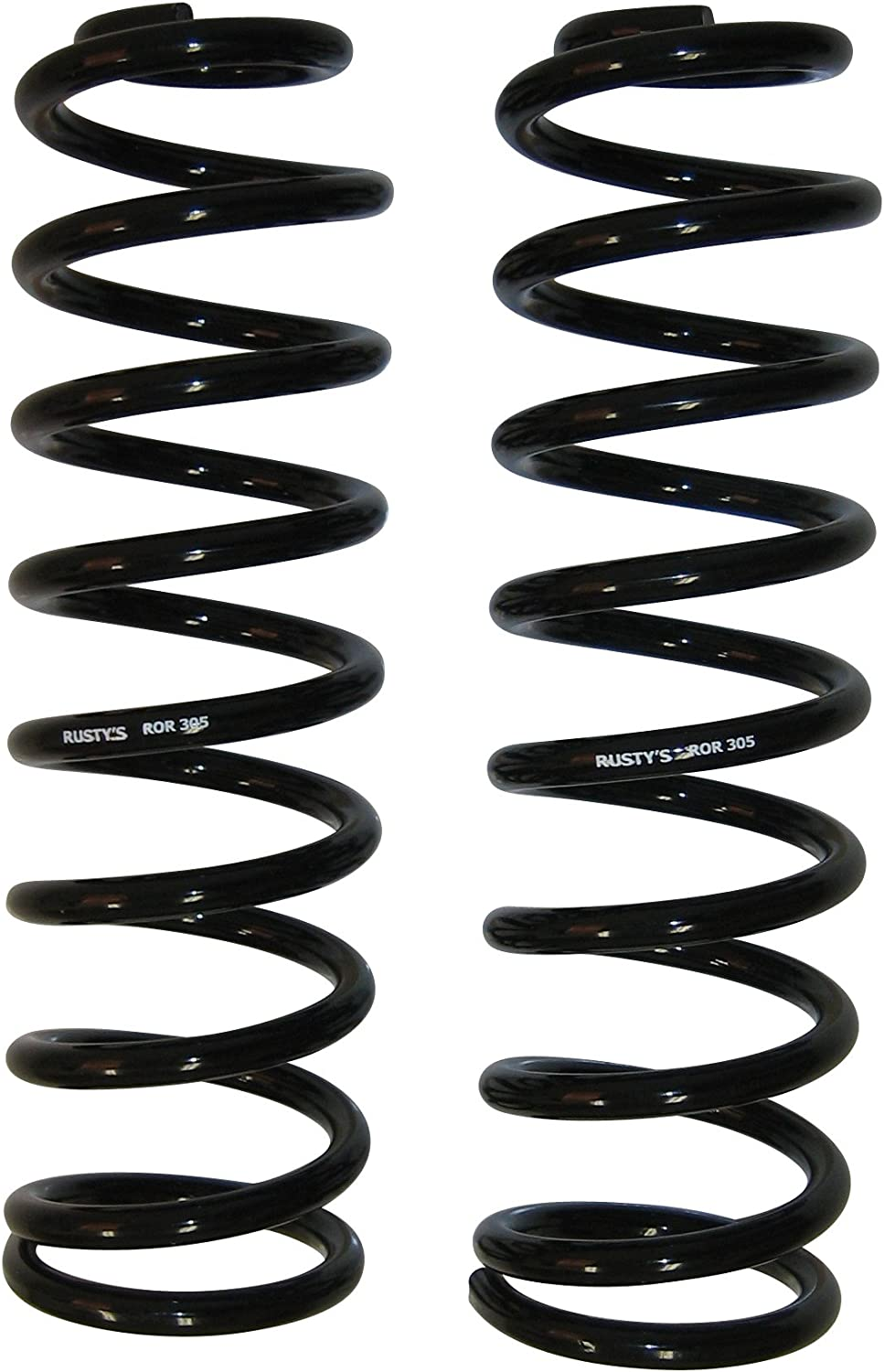 Rusty's Off-Road 3-Inch Lift Heavy-Duty Front Coil Springs - Pair - Compatible with Jeep Wrangler TJ