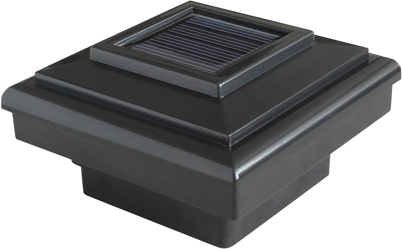 Black Pine Top 511-0009 4-Light LED Solar-Powered Plastic Fence-Post Cap Light