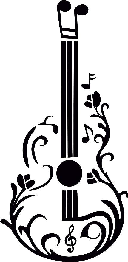 LONDON Notas musicales Guitarra Plancha en serigrafía Tela Applique Lavable a máquina transferencia