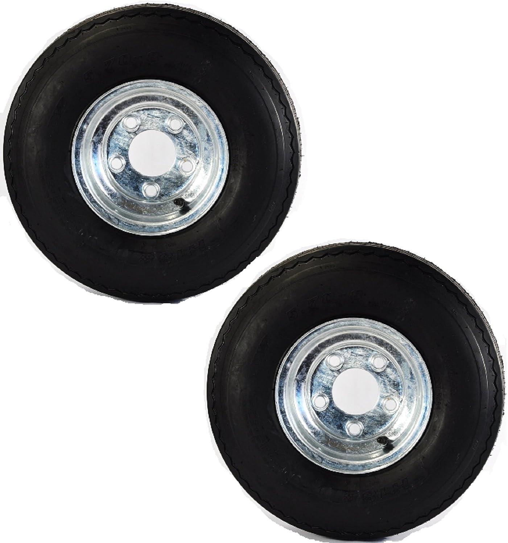 ecustomrim two equipment utility trailer tires rims 4 80 8 480 8 4 80x8 in lrb 5 lug galv Tent Trailer Tires