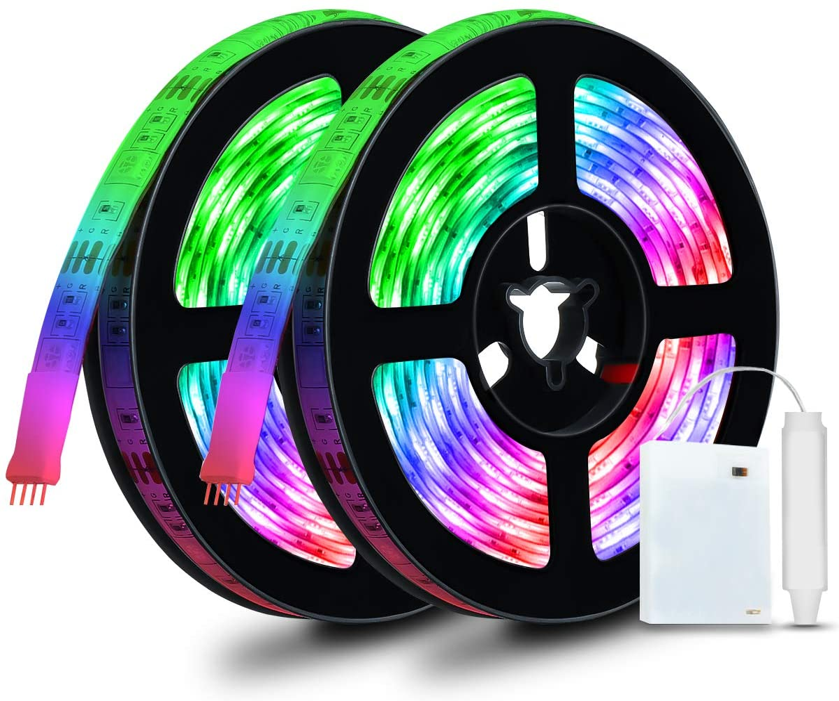 Tiras LED flexibles e impermeables Glisteny por sólo 7,79€ con el #código: 3J52FVS9