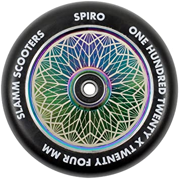 Slamm Spiro Hollow Core Rueda Scooter (120mm - Neochrome ...