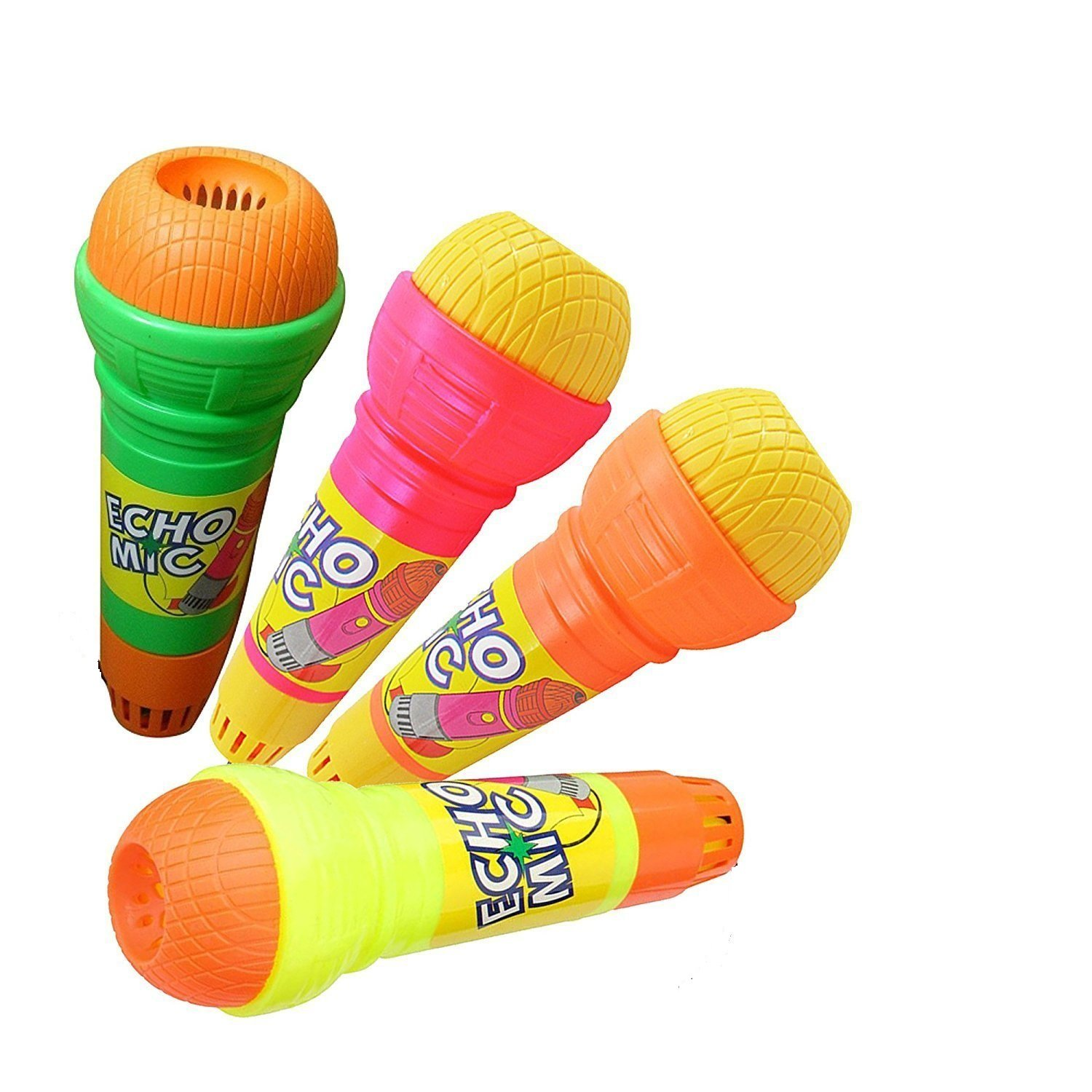 Dazzling Toys Toy Echo Microphone Variety Pack of 12 - Pretend Play Multicolor Novelty Toy Mic. Set with Echo Feature for Kids Graduations | Holidays |Birthday Parties | BBQ's - Ages 3 and Up by Dazzling Toys