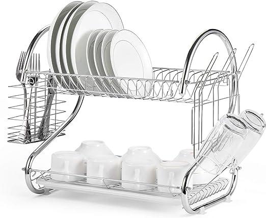 Amazon Com Glotoch Dish Drying Rack 2 Tier Dish Rack With