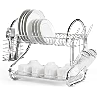 Stainless Steel Over-The-Sink Kitchen Dish Drainer Rack