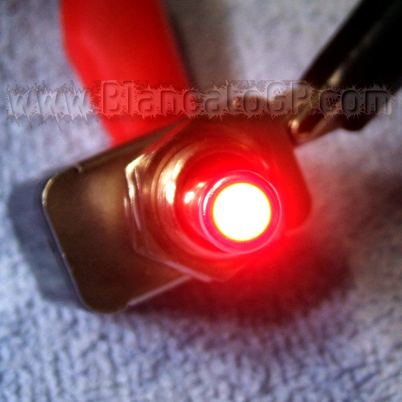 BlancatoGP Interruttore a Leva Spia LED Rosso 12V 20A Auto Moto Camper Epoca cruscotto Fiat