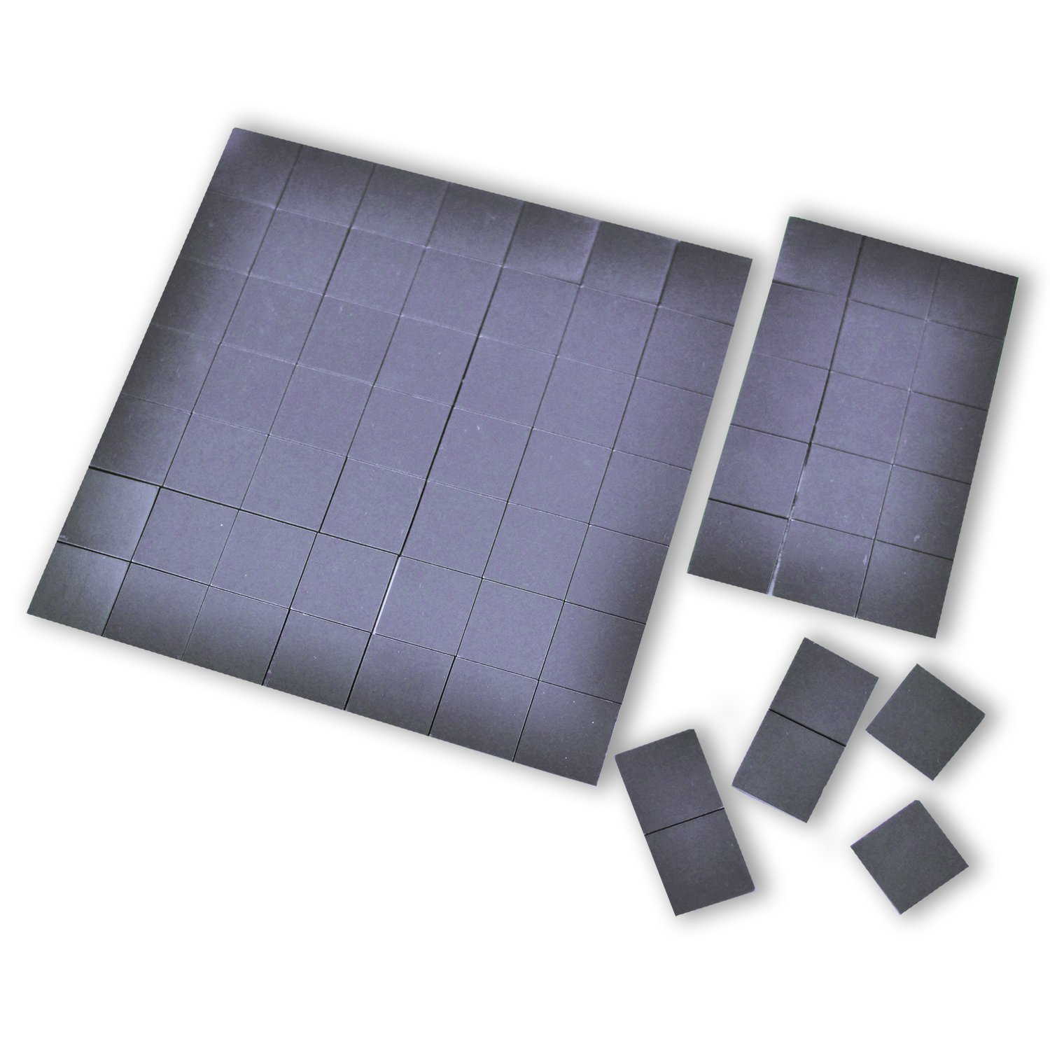 Magnefic! Magnetic Squares, 1 tape sheet of 70 magnetic squares (each 20x20x2mm), magnet