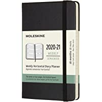 Moleskine - Agenda Horizontal Semanal, Agenda de Bolsillo 2020/2021 de 18 Meses, Agenda Semana Vista con Tapa Dura y…