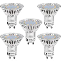 LE 5 Pack MR16 GU10 LED Light Bulbs, 35W Halogen Bulbs Equivalent, 250lm, 3W, Warm White, 2700K, 120° Beam Angle, Recessed Lighting, Track Lighting