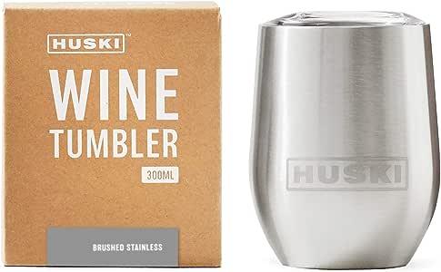 Huski Wine Tumbler (Brushed Stainless)