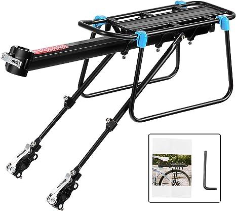 Bicicleta Portabultos, Baiker Bicicleta Portaequipajes Ajustable Aluminio bicicleta Accesorios Portaequipajes para Bicicleta con Reflector: Amazon.es: Deportes y aire libre
