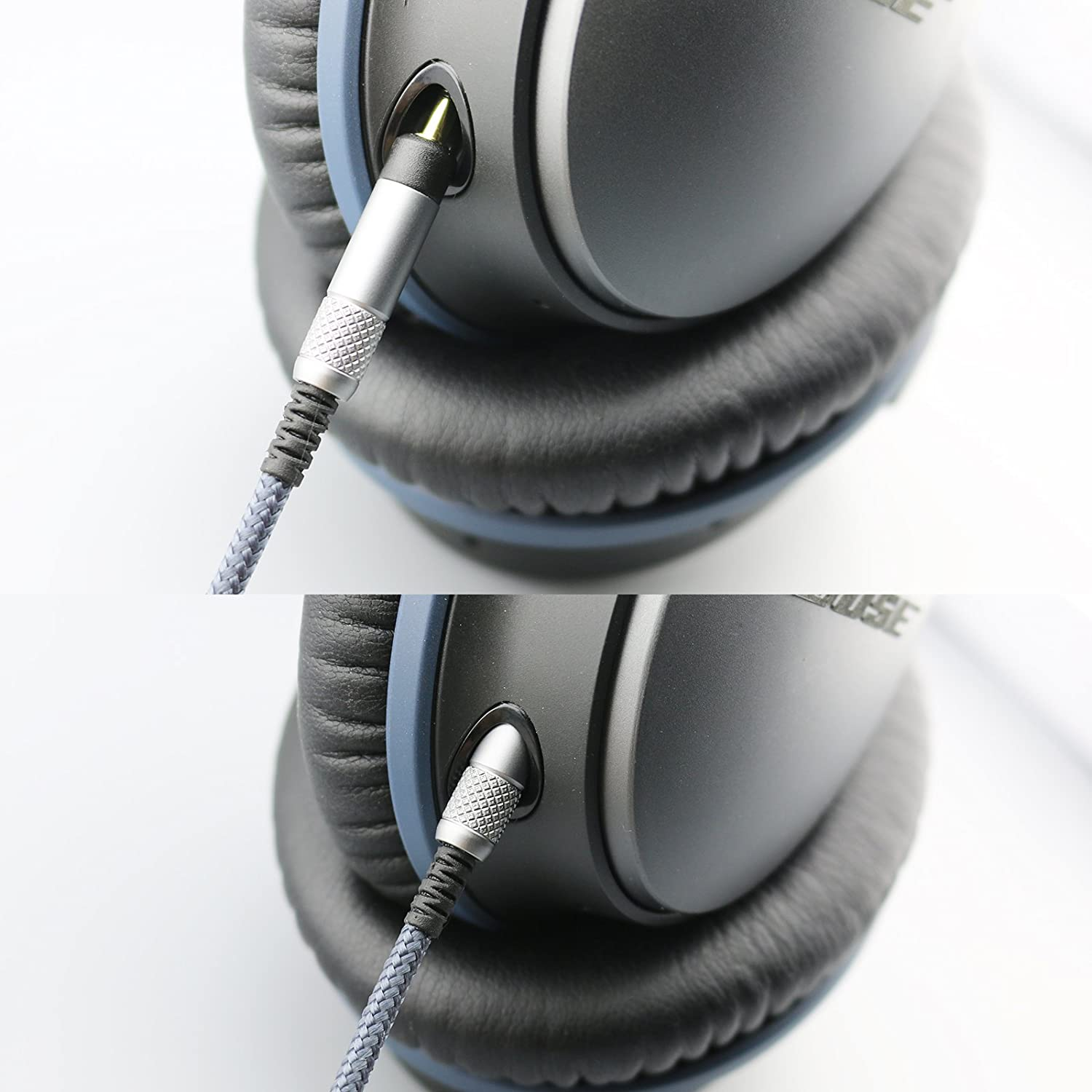 QC35 QuietComfort 25 Audio Cable with in-Line Mic Remote Volume Compatible with Bose QC25 QuietComfort 35 Headphone and Compatible with iPhone iPod ipad Apple Devices
