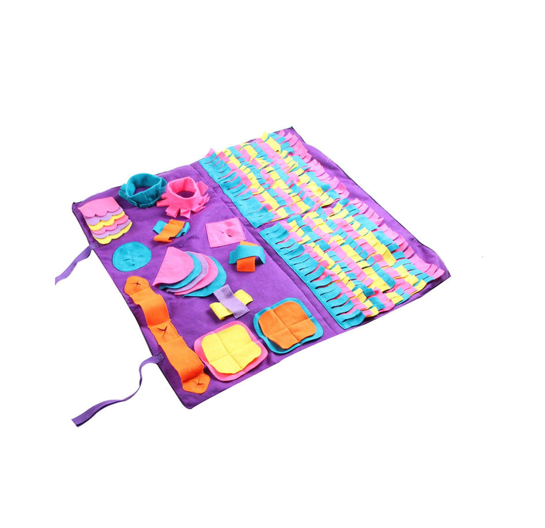 Pet Dog Sniffing Mat Find Food Training Blanket Play Toys Dog Mat for Relieve Stress Puzzle Sniffing Mat Pad, Shows,AS Shown