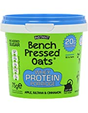 Bench Pressed Oats Apple, Sultana and Cinnamon Instant Whey Protein Porridge (Pack of 8)