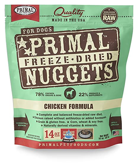 Amazoncom Primal Pet Foods Freeze Dried Canine Chicken Formula 14