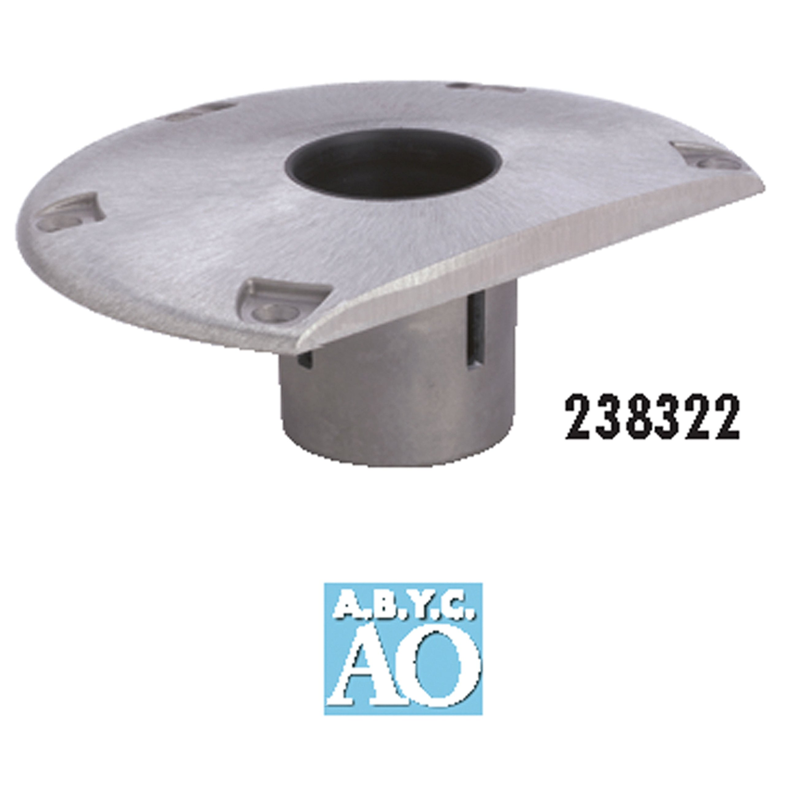 attwood 3003.3099 238322-1 238 Series Socket Base-Aluminum, 9'' D-Shaped by attwood