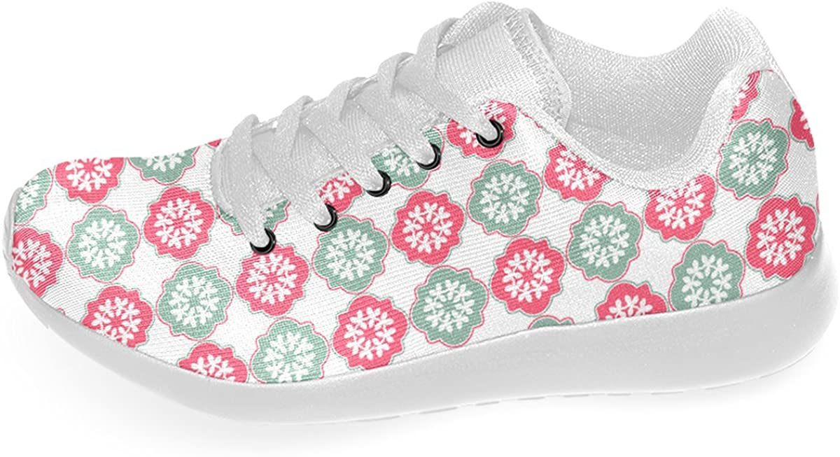 Artsadd Shabby Chic Decorative Quatrefoil Pattern Custom Running Shoes for Men