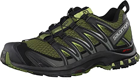 Salomon Men's XA Pro 3D Trail Running Shoes, Chive/Black/Beluga, 8