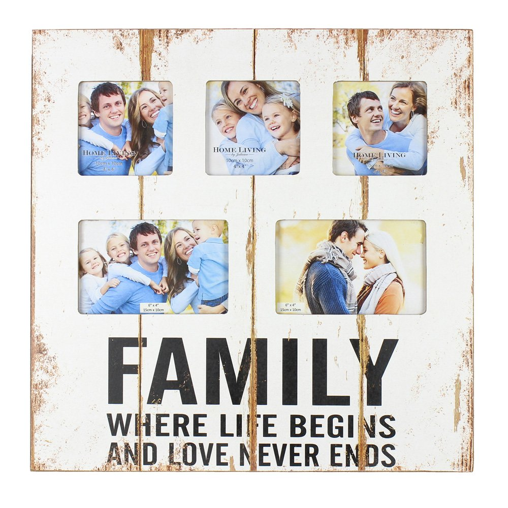 Amazoncom Original Family Rustic White Wooden Collage Photo