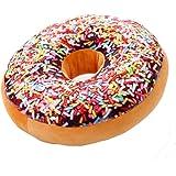 niceeshop(TM) Mignon Coussin Décoratif en Peluche sous Forme de Donut pour Canapé, Voiture et Voyage (Couleur Arc en Ciel)