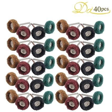 50Pcs 25mm Abrasive Wheel Buffing Polishing Wheel Set For Rotary Tool Grit 150