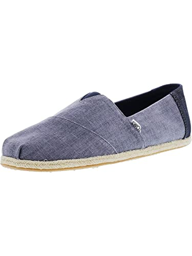1bddfff9ede TOMS Women s Seasonal Classics Slip On Shoes Deep Ocean Coated Linen Rope  10 D(