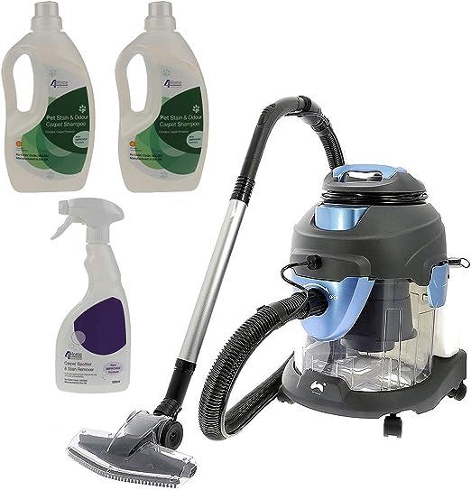 Aspiradora 4 en 1, de Ovation, multifuncional, para mojado y seco, limpieza de alfombras, de 1400 W, incluye 3 botellas de producto limpiador de alfombra: Amazon.es: Hogar