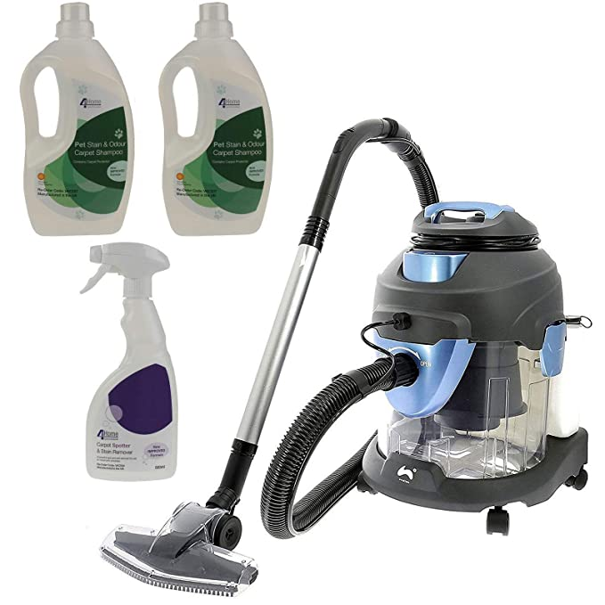 Ovation 4 in 1 Multi-Functional Wet & Dry Vacuum Cleaner Carpet Washer - 1400W + Plus 2 Free Bottles Of Carpet Shampoo & 1 Bottle of Stain Remover: ...