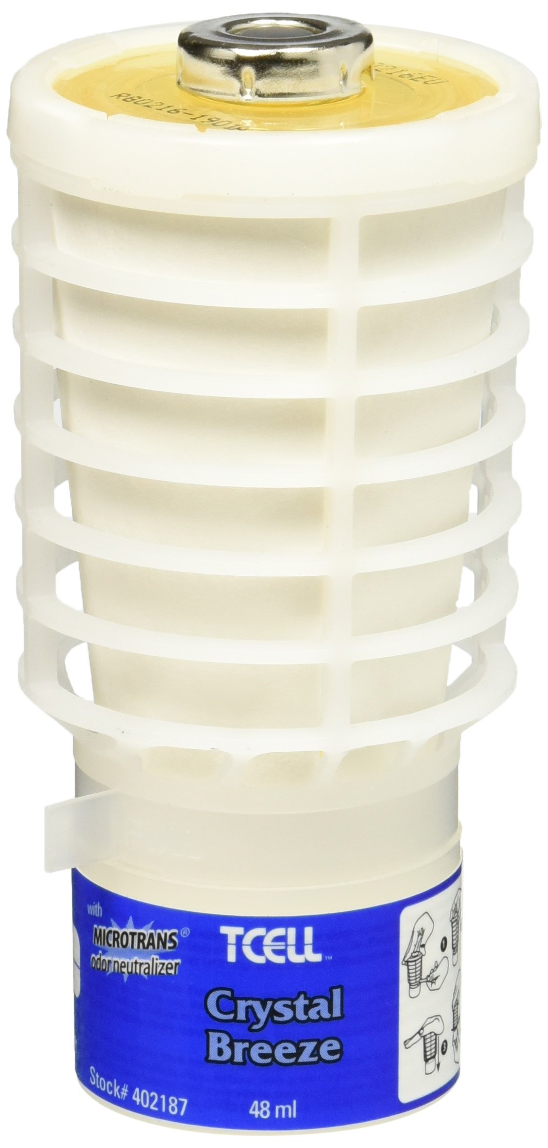 Rubbermaid Commercial TCell Odor Control System Refill, Crystal Breeze, FG402187 by Rubbermaid Commercial Products