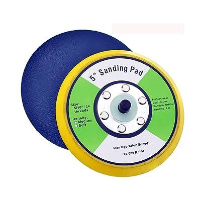 Shiningeyes PSA Sanding Pads for Dual Action Air Sander (5inch): Industrial & Scientific