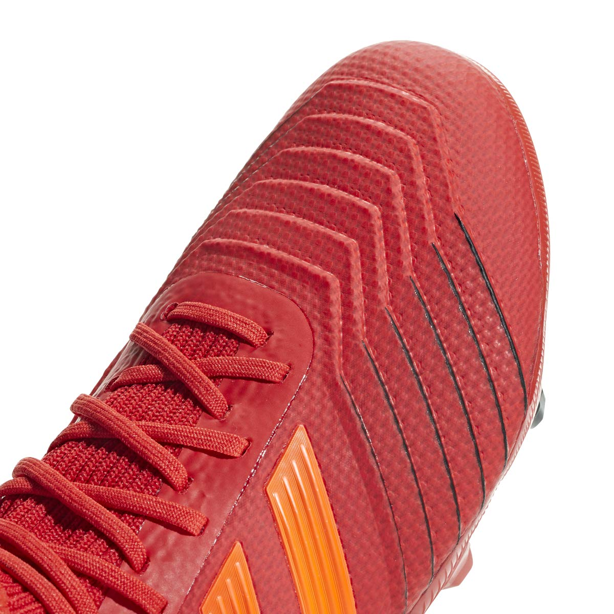 adidas Predator 19.1 FG Cleat Kid's Soccer, 4.0 D(M) US, Action Red-Solar Red-Black by adidas (Image #1)
