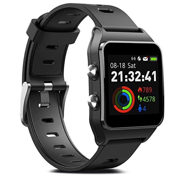 40db2b8828d FITVII GPS Smartwatch with 17 Sports Mode Activity Tracker IP68 Waterproof  Swimming Touch Screen Watches