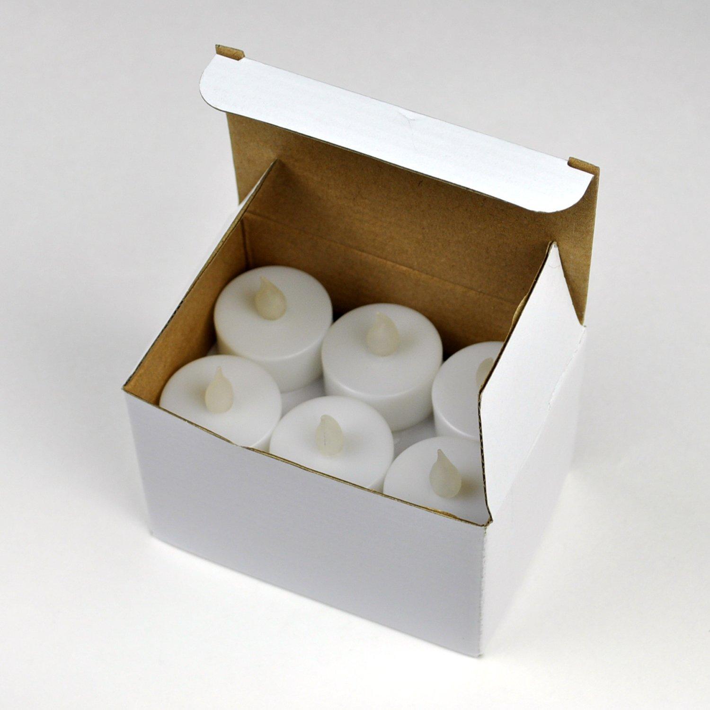 Instapark LCL-72 Battery-powered Flameless LED Tealight Candles, 6-Dozen Pack
